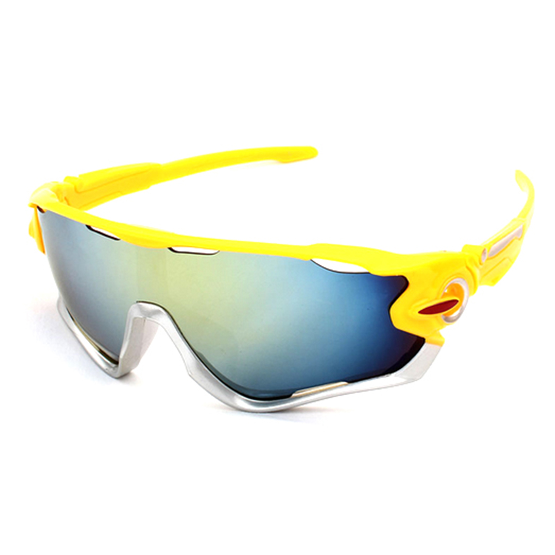 Защита для глаз Ночное видение активного отдыха, Лыжный Спорт Велоспорт ветер, желтый Рамки серебряный край Золотой Плёнки