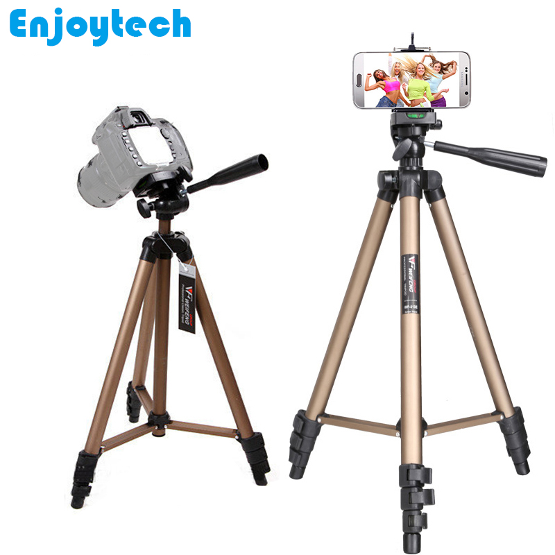 Aluminum Professional Tripod With Phone holder For Iphone Xiaomi PhonesTripod with Pan Head Gimbal for Nikon/Canon/DSLR Cameras 3730 professional tripod for nikon canon sony dslr camera aluminum tripod with pan head gimbal stand for gopro hero dv cameras