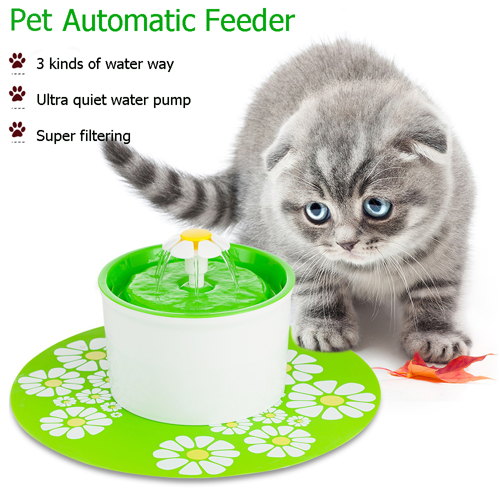 3 In 1 Automatic Cat Water Fountain Feeder For Pets Water Dispenser Large Spring Drinking Filter Water Purifier 1.6l Cat Bowl