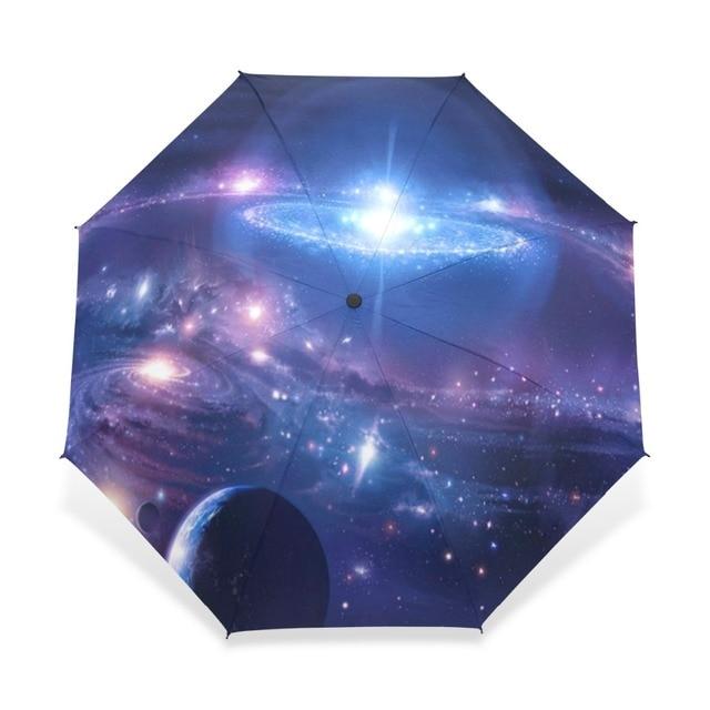 094a9d6f4f79 US $23.59 41% OFF Novelty Gift Galaxy Space Nebula Cloud Custom Foldable  Umbrella Milky Way Travel Umbrella Children Umbrella Portable Folding-in ...