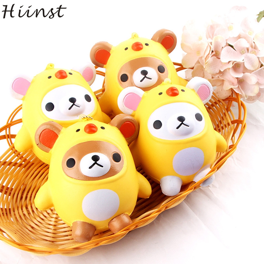 Squishy survival 9 - Hiinst Funny Creative Exquisite Pu 9 5 9cm Crazy Q Bear Scented Squishy Charm Slow Rising