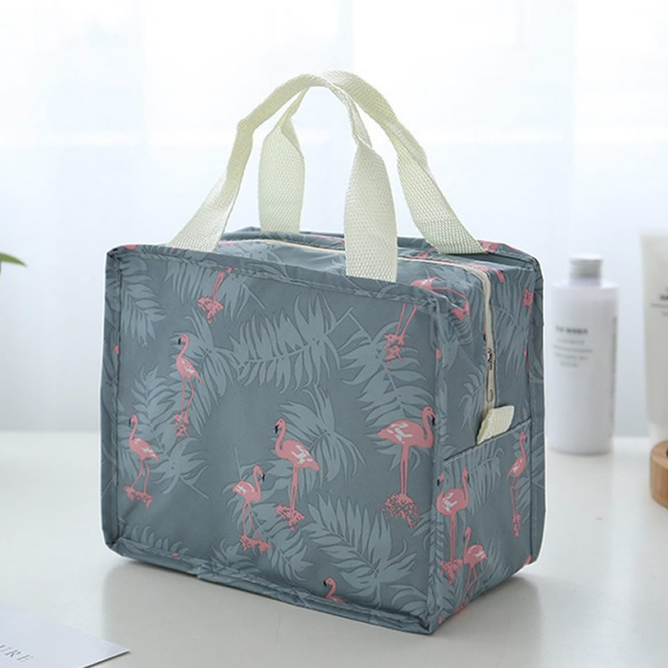 цена Fashion Flamingo Cosmetic Bag Women Portable Make Up Bag Travel High Capacity Handbag Makeup Bag Toiletry Kits Necessaire