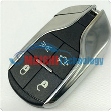For MASERATI GHIBLI QUATTROPORTE 12-15 SMART KEY LESS ENTRY REMOTE Shell WITH UNCUT BLADE 4-BUTTON