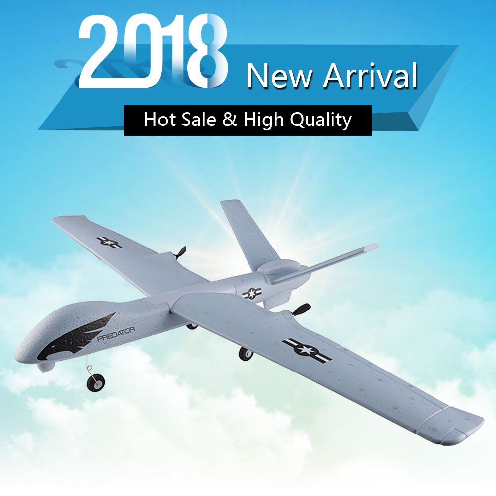 Flying Model Gliders RC Plane 2.4G 2CH Predator Z51 Remote Control RC Airplane Wingspan Foam Hand Throwing Glider Toy Planes