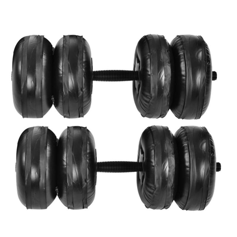 Portable Adjustable Water Dumbbell Set Inflated PVC Weight Dumbbell Body building Gym Fitness Assembly Dumbbell Max. 25kg