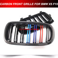 M Sport Look Carbon Fiber Front Kidney Grille For  BMW F15 F16 X5 X6 SUV 2014-2015