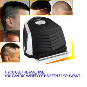 Image 3 - Kemei saç kesme 0mm kel kafalı erkekler DIY saç kesici taşınabilir saç sakal düzeltici akülü kısayol Pro kendini saç kesimi makinesi