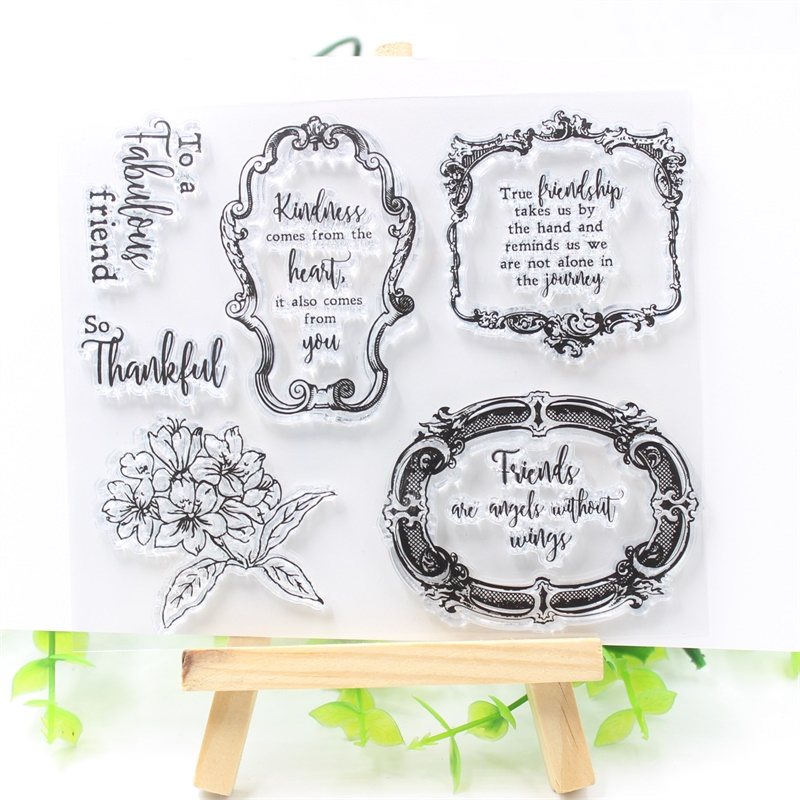 YPP CRAFT Friendship Transparent Clear Silicone Stamps for DIY Scrapbooking/Card Making/Kids Fun Decoration Supplies