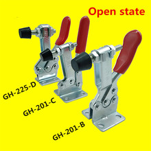 27KG 90KG 230KG Stainless Steel Anti-Slip U Shape Toggle Clamp Holding Capacity Push Pull Toggle Clamp Vertical Horizontal Type capacity 680kg 1500lbs 60mm plunger stroke push pull type toggle clamp