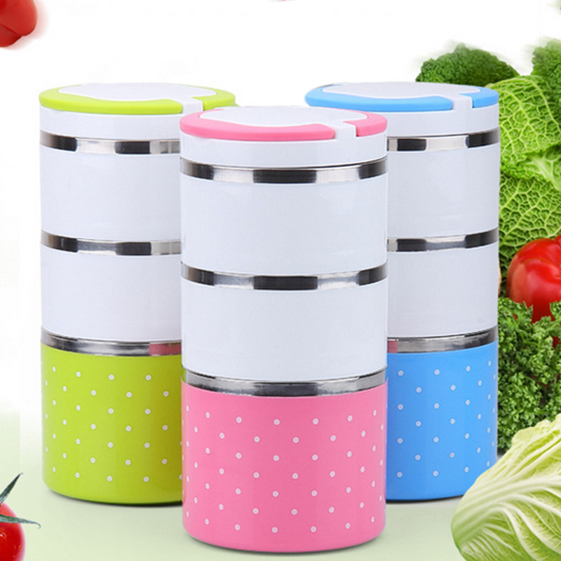 2017 stackable multilayer stainless steel insulated thermal lunch box bento picnic storage boxes. Black Bedroom Furniture Sets. Home Design Ideas