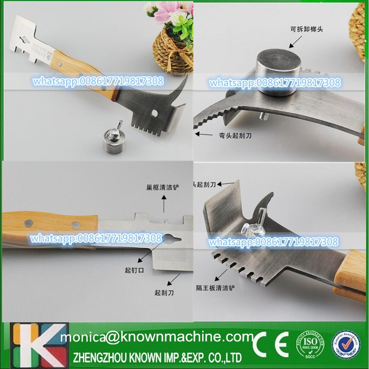 Beekeeping tools Multi-function honey scraper/ beehive tool with frame shovel electric honey knife uncapping large scraper stainless steel hot heating knife honey cutter beekeeping tool supplies