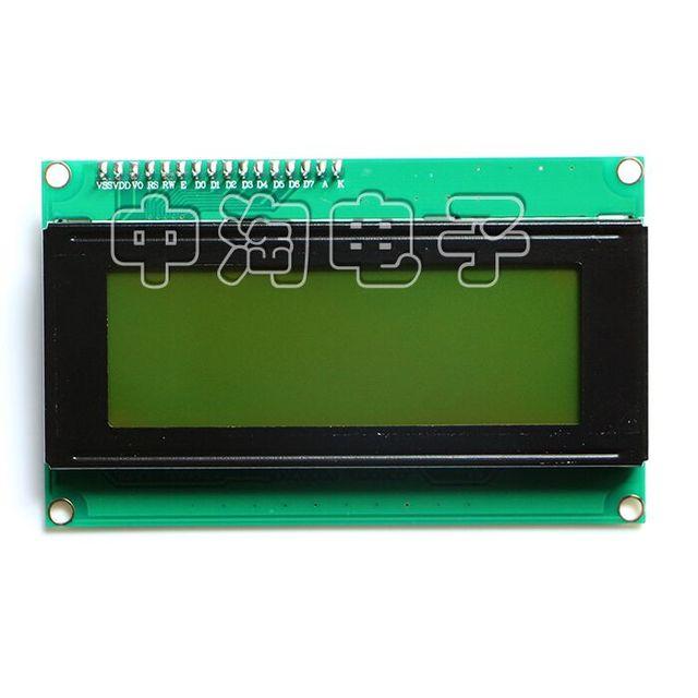 Бесплатная доставка! ЖК-дисплей модуль желтый и зеленый экран IIC/I2C 2004 5 В 20x4 ЖК-дисплей доска предоставляет файлы библиотеки для Arduino