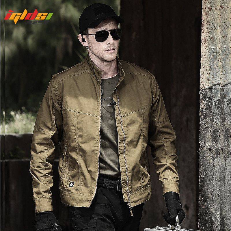 Military Style Field Tactical Jacket Men Waterpoof SWAT Combat Army Jackets New 2018 Spring Autumn Casual Bomber Pilot Coats 2XL