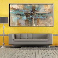 Free Shipping Artist Handmade Abstract Green Oil Paints Unique Modern Abstract Pop Oil Painting For Living Room Decoration