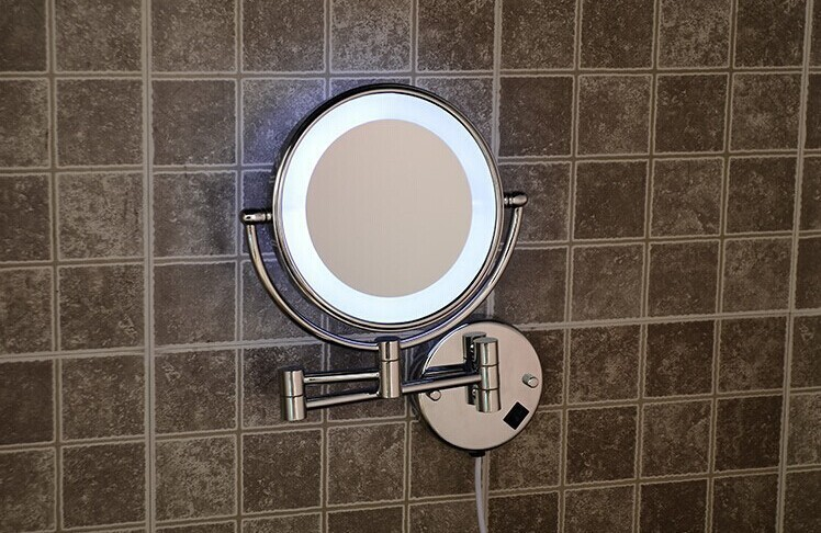 Led Bathroom Mirror 360 Retractable Wall Cosmetic Makeup Bath Double Faced Accessories In Mirrors From Home