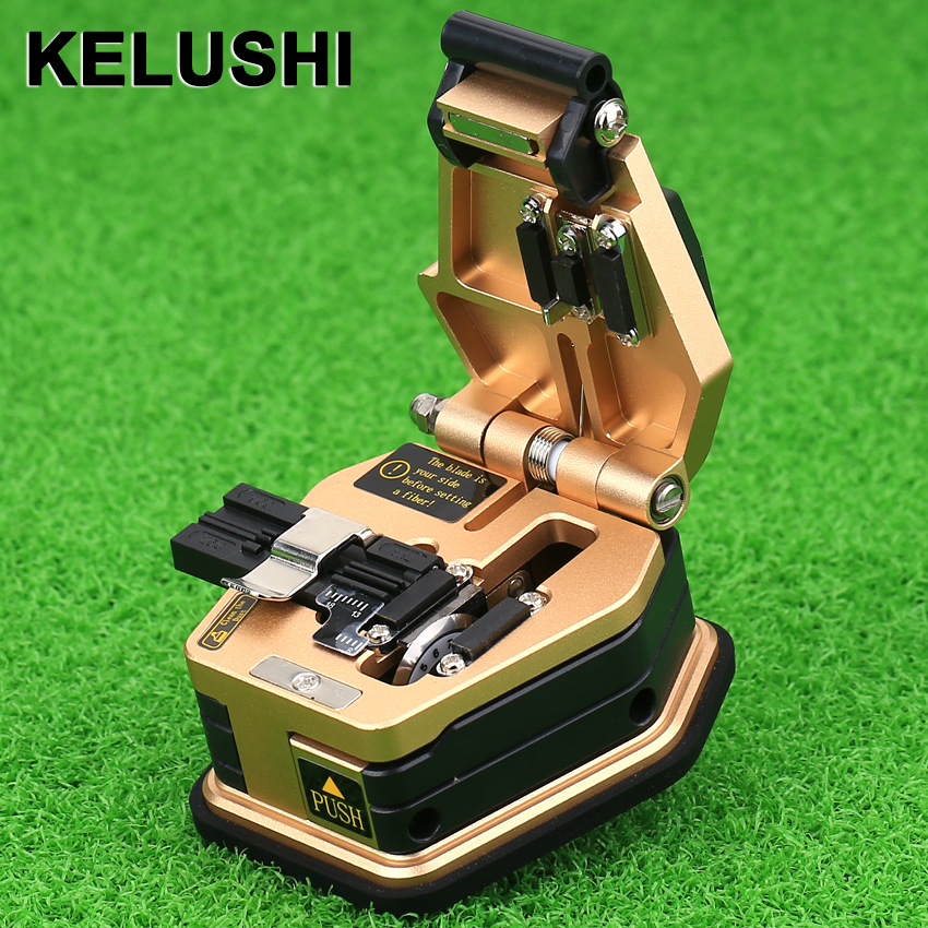 KELUSHI Fibre Cleaver SKL-6C Kabelschneidemesser FTTT Fiber Optic Messer Werkzeuge Cutter High Precision16 Surface Blade