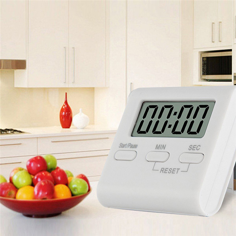 Large Hanging LCD Digital Kitchen Timer 100 Minutes Count-down Up Clock Loud Alarm Reminder Cooking Tools Wholesale 30JE15