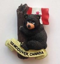 Canadian Flag Cute Cubs High-grade Resin 3D Fridge Magnets Tourism Souvenir Home Decoration Refrigerator Magnetic Stickers
