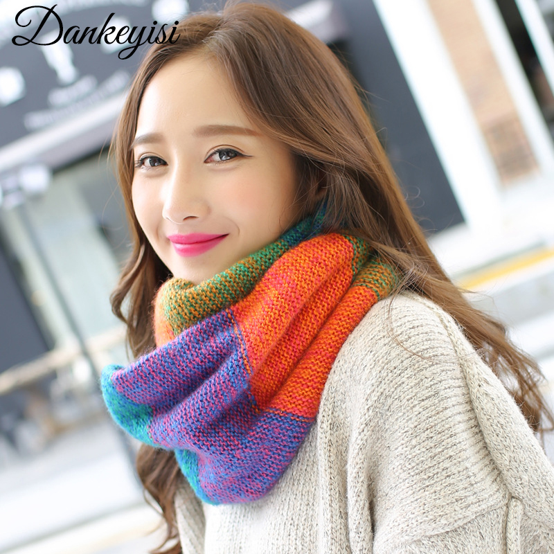 DANKEYISI Brand Winter Warm   Scarf   Women 2017 Shawls Feamle Neck   Scarves   Tube   Scarf     Wraps   Luxury Indian Women   Scarf   Bandana