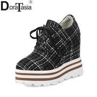 DoraTasia Women S Keroan Geometric Print Upper Shoes Woman 2018 Lace Up Platform Comfortable Women Shoes