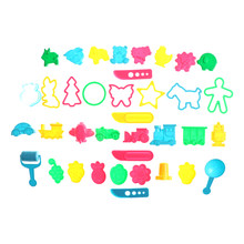 36pcs Set Kit Sand Begin Kids Baby Ability Playdough Polymer Clay Beach Toy Traning Toy Play Dough Plasticine Mold Tools(China)