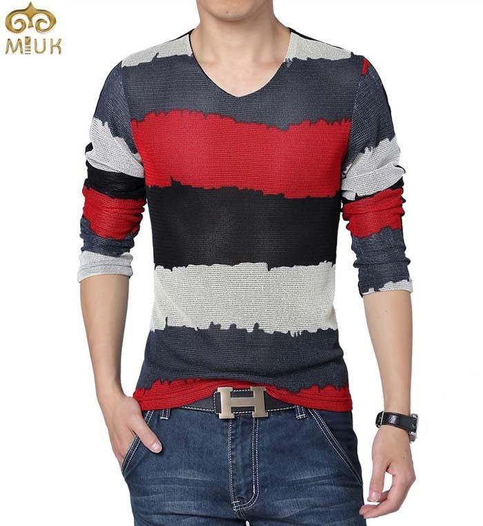 Buy Miuk Large Size T Shirt Men Striped