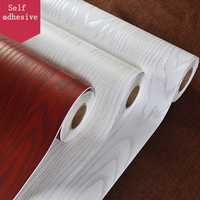 3D Embossed Wood Textured Decals Contact Paper Sticker