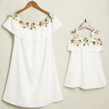 Embroidery Dresses Mother Daughter Mommy and Me Clothes Family look Matching Outfits Mum Mom and Daughter Clothes Dress Clothing