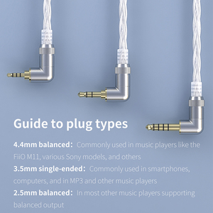 Image 4 - FiiO LC 2.5D LC 3.5D LC 4.4D High Purity Monocrystalline Sterling Silver Litz Earphone Cable for F9 PRO FH1 M11 Shure/Westone