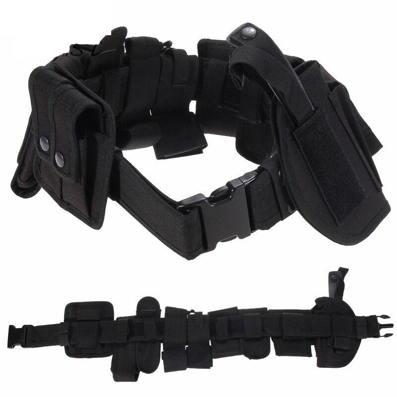2019 chaud extérieur Designer hommes ceintures multi-fonction tactique ceinture sécurité Police garde utilitaire Kit Nylon devoir ceinture