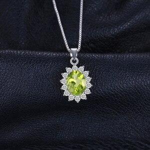 Image 3 - Peridoto naturale Del Pendente Della Collana 925 Sterling Silver Pietre Preziose Collana di Dichiarazione Choker Delle Donne arg