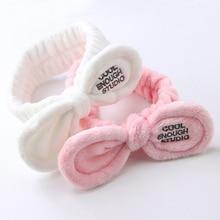 Women Girls  Comfortable Washing Hairband Hairbands Mask Makeup Hair Band Bandwidth Headband Bow Headdress Accessories