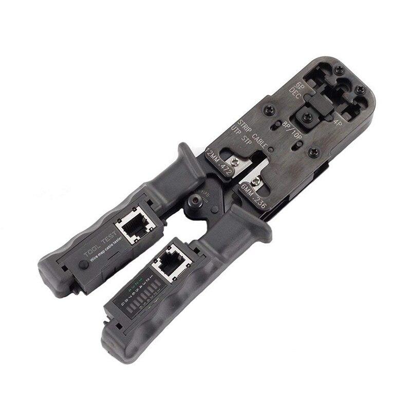 2 dans 1 RJ45 Réseau LAN Câble Pince À Sertir Pince Outil De Coupe Câble Testeur Câble Pinces 6 p/8 p fil Cutter Outil Test Pince À Sertir