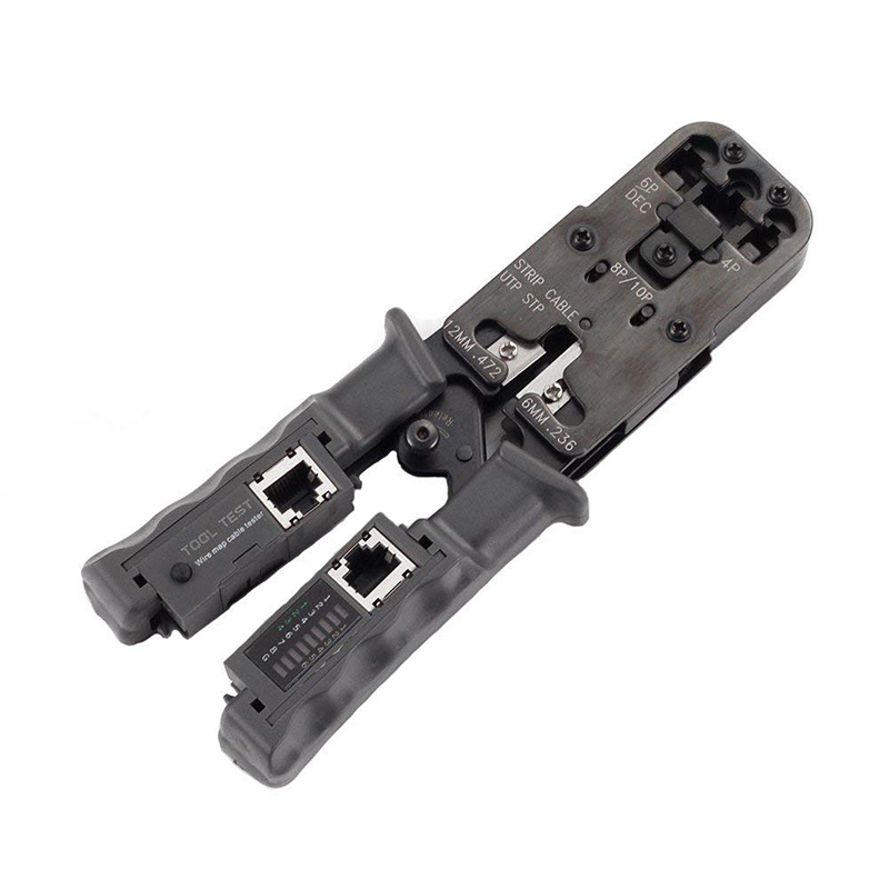2 en 1 RJ45 réseau LAN câble pince à sertir outil de coupe câble testeur câble pinces 6 P/8 P fil coupe outil Test pince à sertir