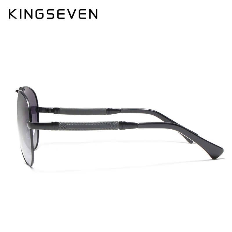 Image 4 - KINGSEVEN High Quality Pilot Sunglasses Men Polarized UV400 Sun glasses Goggle Oculos De Sol Accessories Driving Eyewear-in Men's Sunglasses from Apparel Accessories