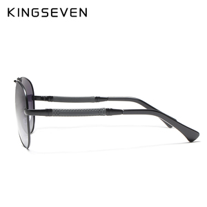 Image 4 - KINGSEVEN High Quality Pilot Sunglasses Men Polarized UV400 Sun glasses Goggle Oculos De Sol Accessories Driving Eyewear