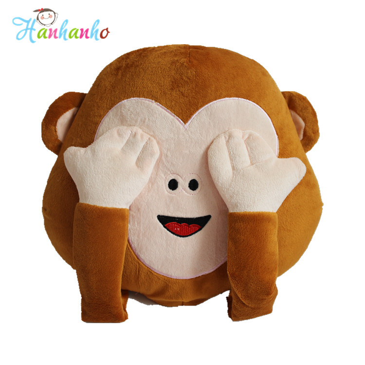 2016 New Arrival Whatsapp 3 Types Funny Monkey Emoji Pillow Cojin Decorative Pillows Kids Cute Smiley Pillow Plush Toy Cushion free shipping hot sale cute stuffed plush poop pillow coussin caca poo cojines coussin emotion pillow cushion emoji pillows page 1