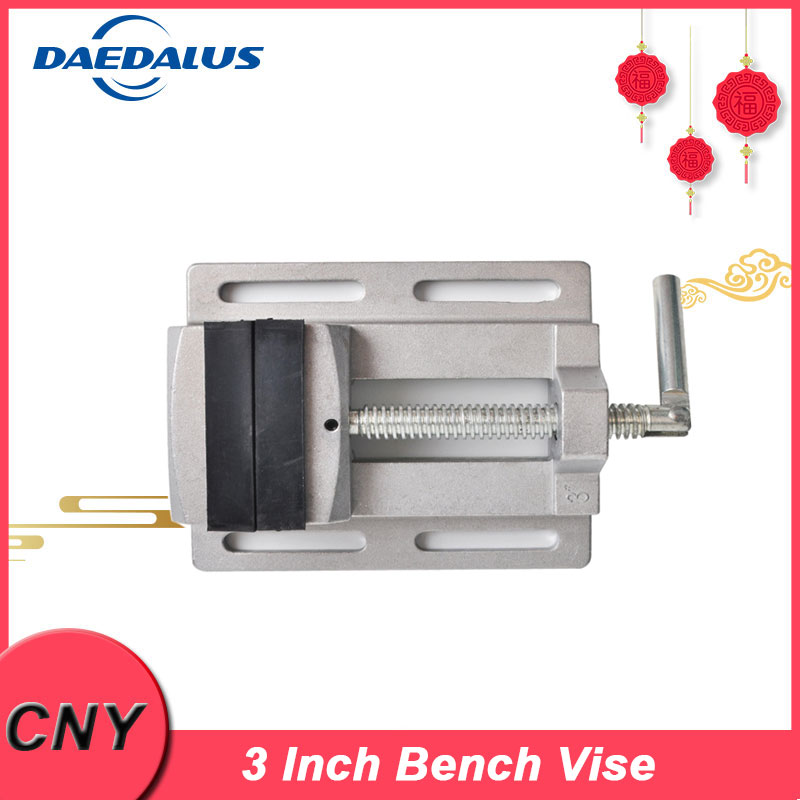 Manual Mini Vise Double Track 3 Inch Bench Vise Aluminium Alloy Table Vise for CNC Drilling