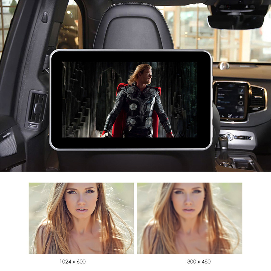 Image 2 - 2 PCS 10.1 Inch Car Headrest TV Monitor DVD Video 1024x600 screen Touch Button Game Remote Control HDMI IR AV FM USB Universal-in Car Multimedia Player from Automobiles & Motorcycles