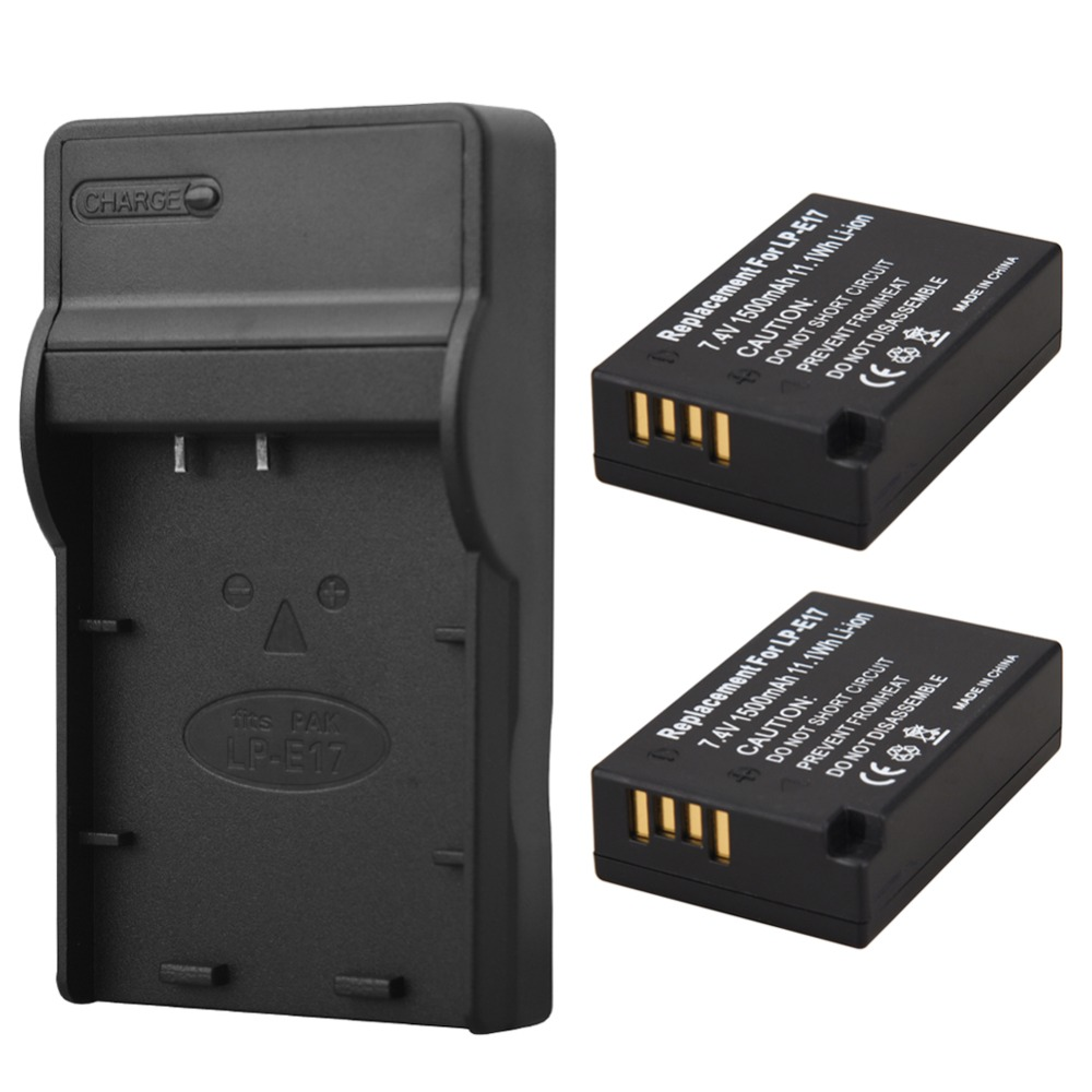 2x1500 mAh LP-E17 LPE17 Kamera Akku + Usb-ladegerät Für Canon EOS M3 M5 750D 760D T6i T6s 8000D Kuss X8i Batterie