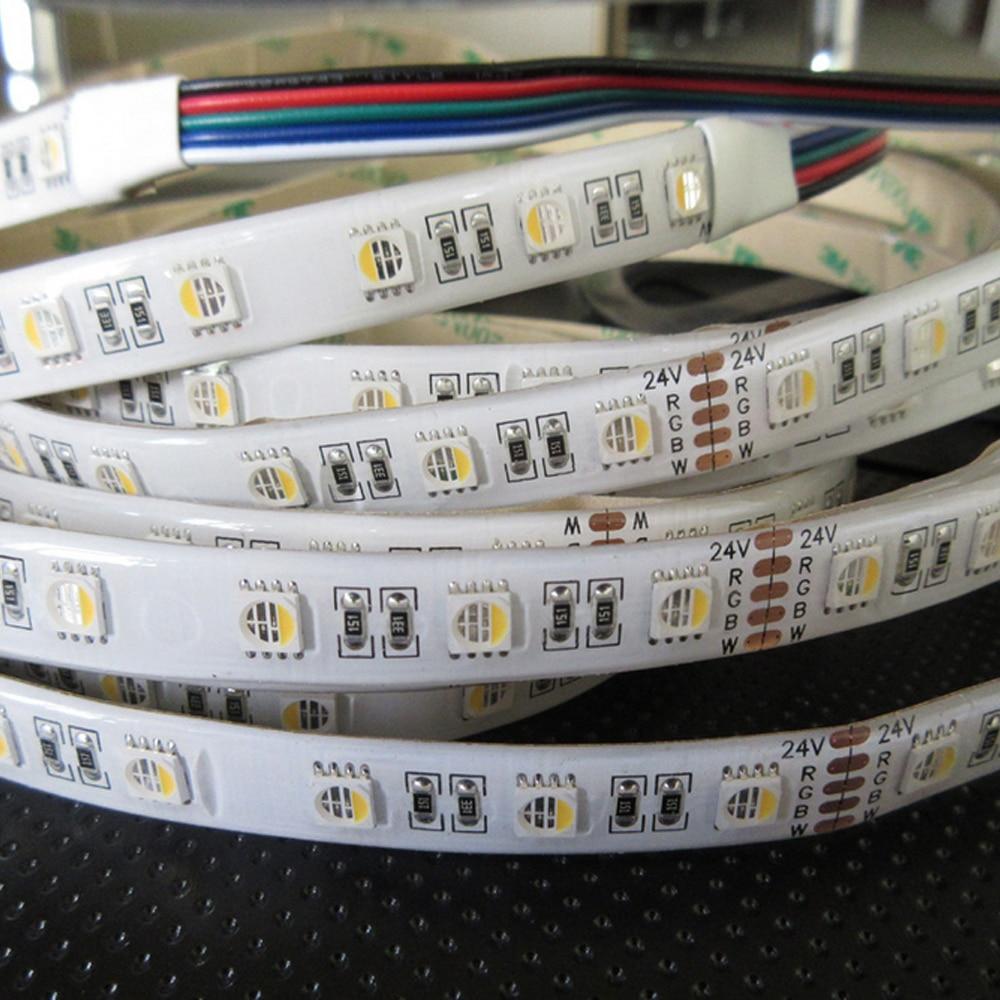 5M 4 szín 1 LED DC12V / 24V 10MM NYÁK SMD 5050 RGBW LED csík fény - LED Világítás