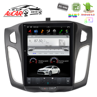 Tesla Style 10.4 for Ford Focus Car Radios GPS Navigation Multimedia System Audio Bluetooth Radio WIFI 4G Vertical Stereo IPS