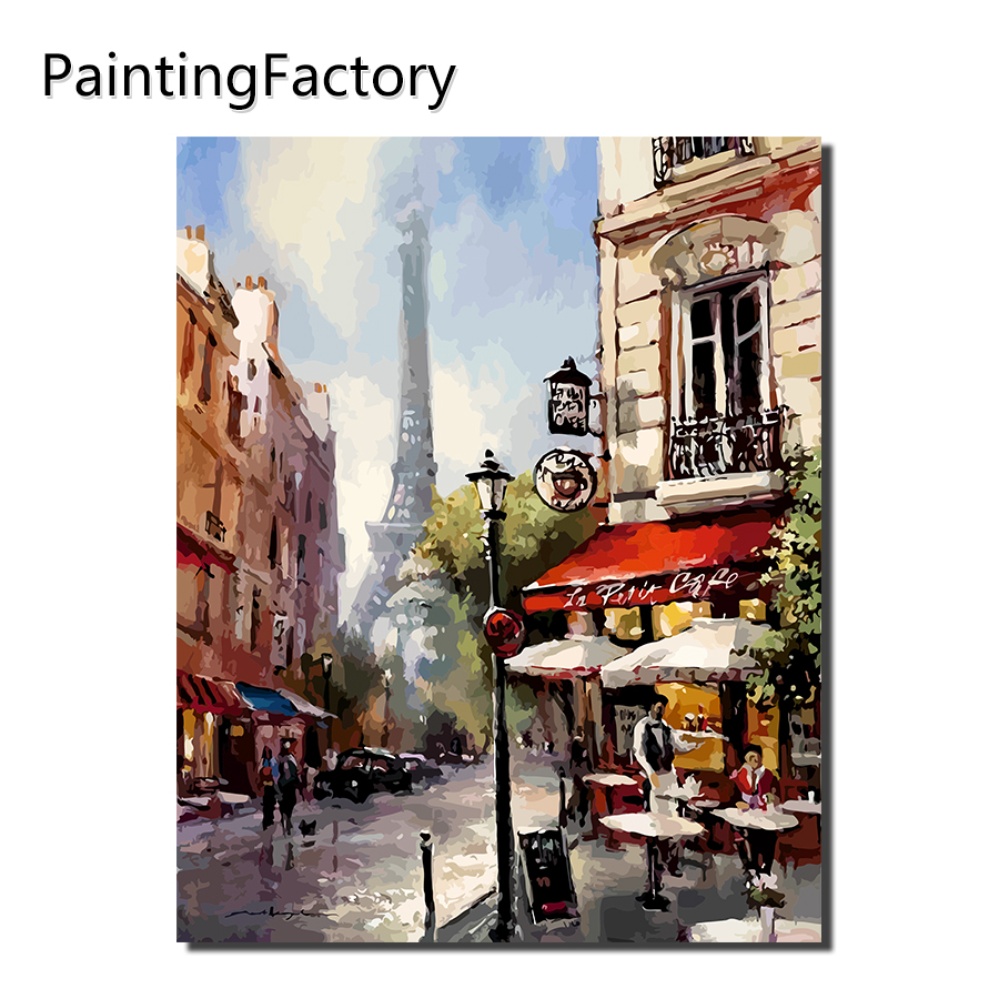 Paintingfactory Tower Outdoor Cafe Painting By Numbers Wall Art Acrylic Paintings Handpainted Home Decor For Living Room Gift In Paint Number From