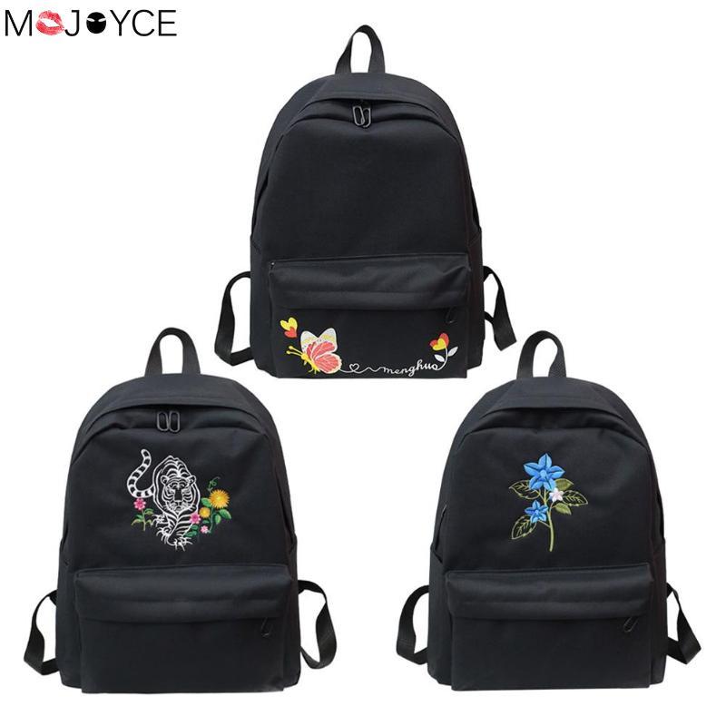 Casual Embroidery Backpacks Teenager Girls Travel Bags School Rucksacks Female School Shoulder Bag Bagpack Feminina mochila