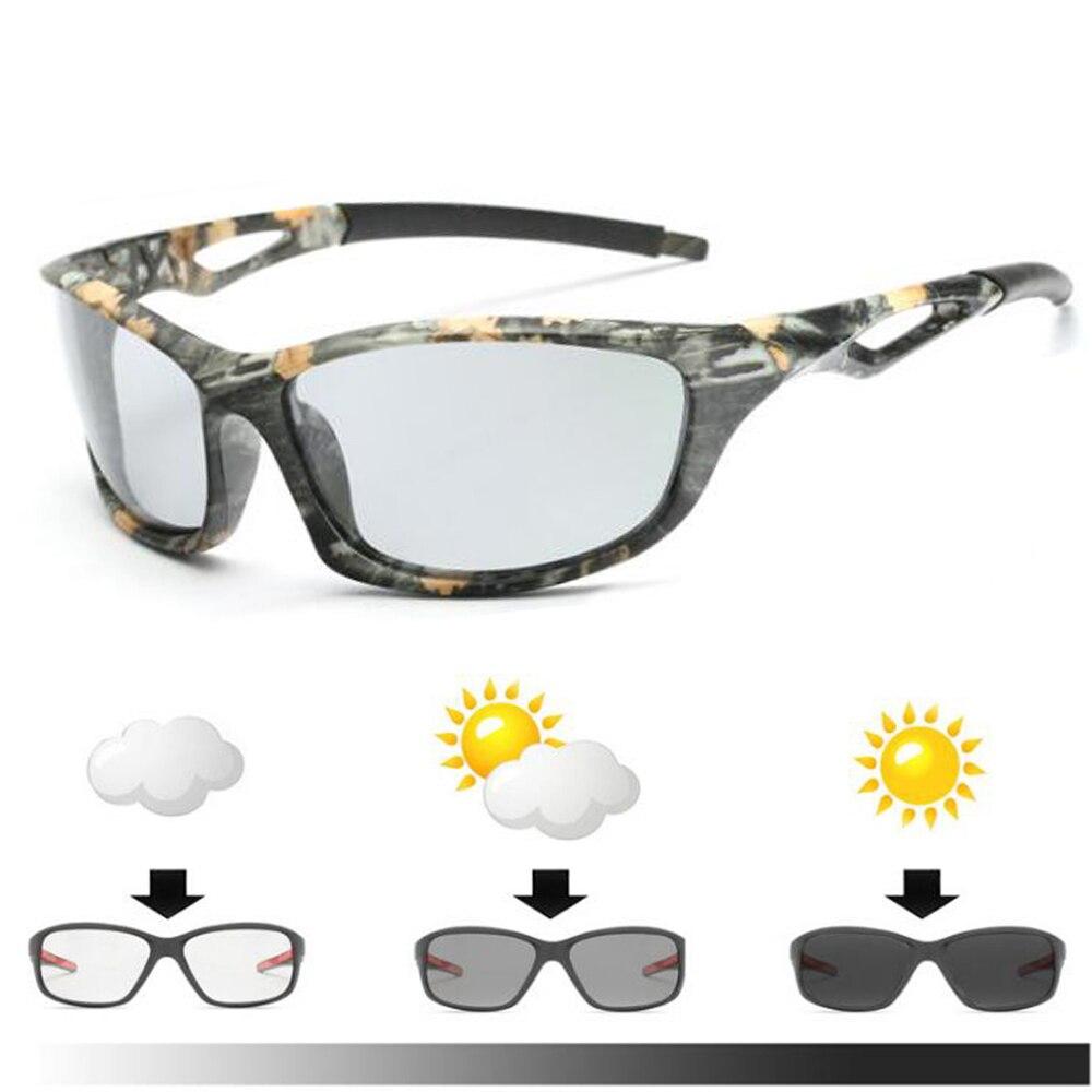 2018 Hiking Men's Photochromic Polarized Sunglasses Anti-UV Camo Driving Eyewears For Men Women UV400 Outdoors Sun Glasses Male