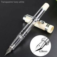 Asa sung 698 pistão caneta fonte branco tampa clipe de prata caneta tinta extra fino nib artigos de papelaria escritório material escolar escrita