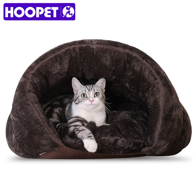 HOOPET New Arrival Warm Cat Sleeping Bags Pet Beds Half ...