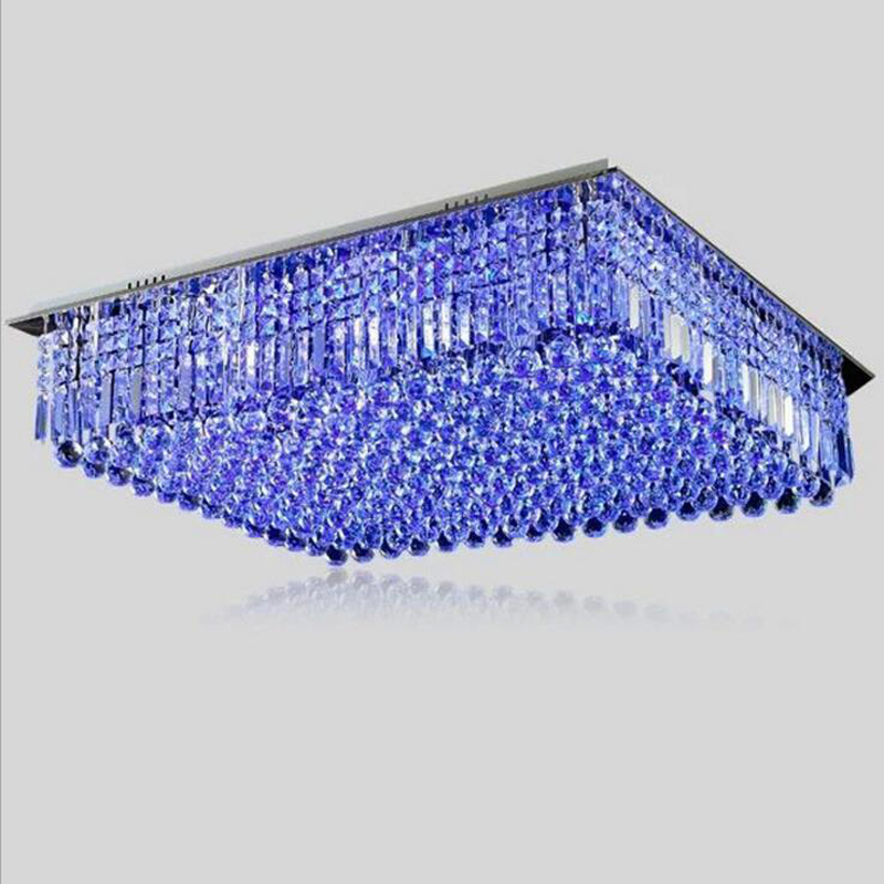 Modern luxury LED ceiling lamp living room crystal lamps rectangular crystal ceiling lamps lighting fixture led crystal lights luxury big crystal modern ceiling light lamp lighting fixture
