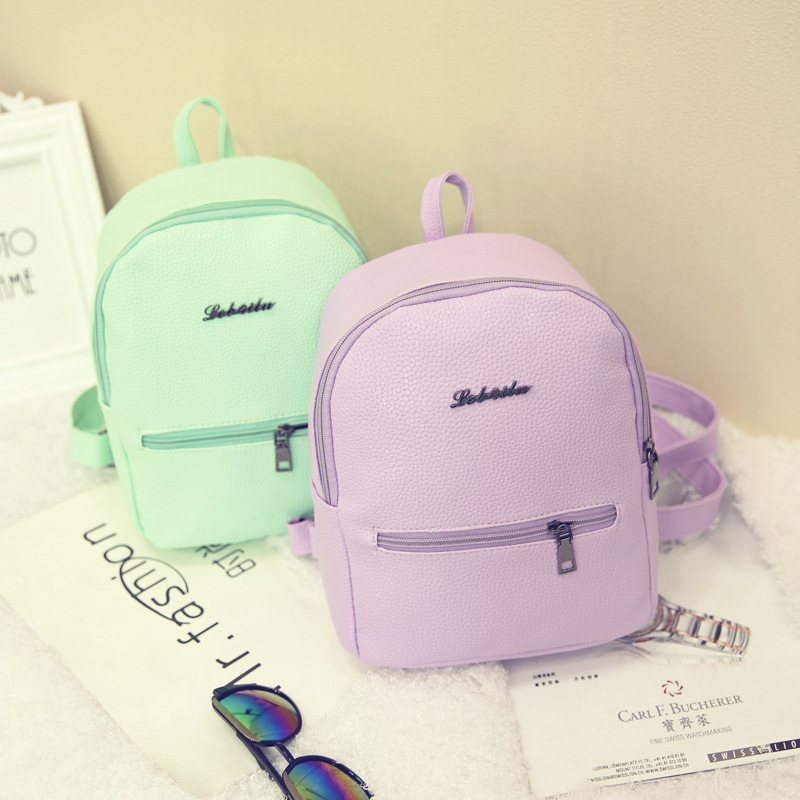 2019 New Backpack Summer Small Women Backpack Candy Color Student Travel Shoulder Bags Teenager Girls Female Mochila Bagpack #5