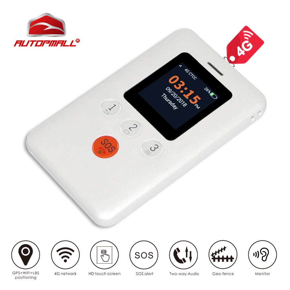 4G GPS Tracker Children GPS Locator Portable GPS Tracking Concox GK310 Two-way Talk HD Touch Screen SOS WiFi LBS APP Web Track